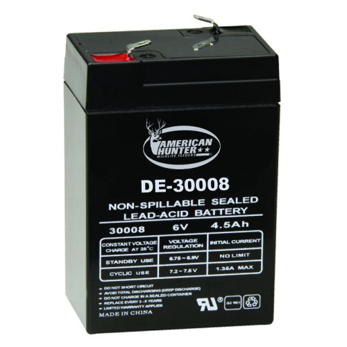 6V 4.5 AMP HR RECHARGEABLE BATTERY