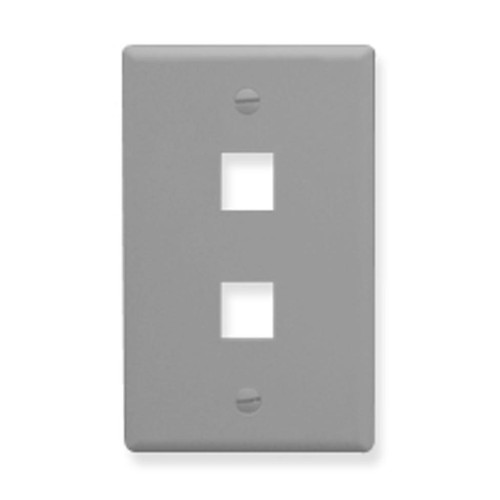 IC107F02GY - 2 Port Face - Gray