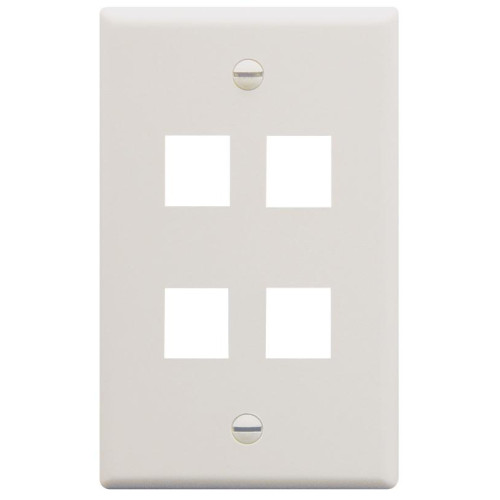 IC107F04WH - 4Port Face White