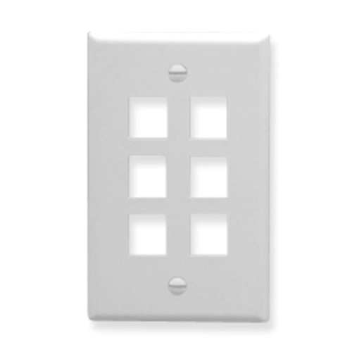 IC107F06WH- 6Port Face White