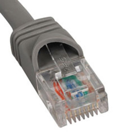 PATCH CORD, CAT 5e, MOLDED BOOT, 7' GY