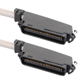 25-PAIR CABLE ASSEMBLY, M-M, 90°, 25'