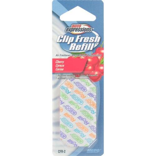 Auto Expressions Clip Fresh Refill Cherry Air Freshener