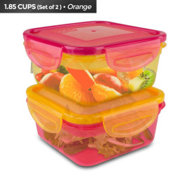 Cool Gear Snap and Seal Food Storage, 1933 (Orange/Red)