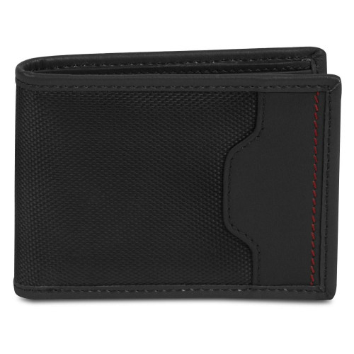 Travelon Safe ID Hack-Proof Accent Billfold Wallet With RFID Protection, Black